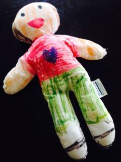 プログラムのときに娘が作ったお人形