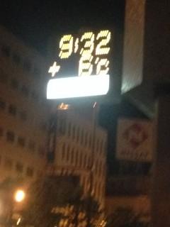 講演前日の夜の旭川の気温。かなりの寒さに北の大地を感じました。